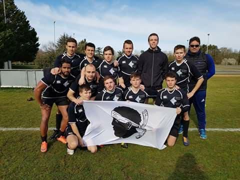 l'équipe universitaire Corse de rugby à 7 au Seven Trophy de Poitiers